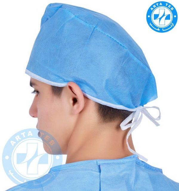 کلاه جراحی یکبار مصرف بند دار (2)