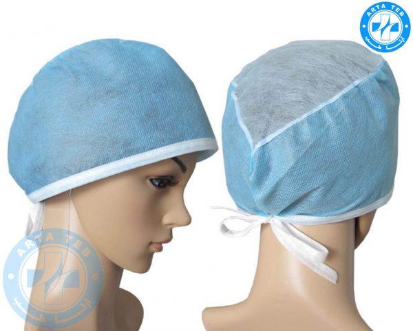 کلاه جراحی یکبار مصرف بند دار (3)