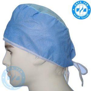 کلاه جراحی یکبار مصرف بند دار (4)