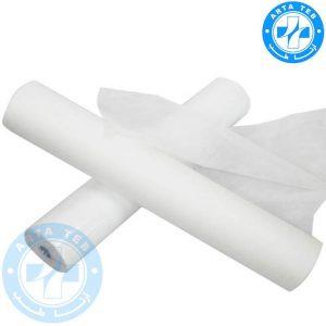 رول ملحفه یکبار مصرف عرض 60 گرماژ 17 سفید 40 متر
