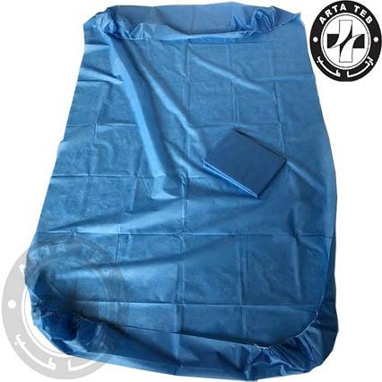 ملحفه یکبار مصرف کشدار 120220 آبی 38 گرم (5)