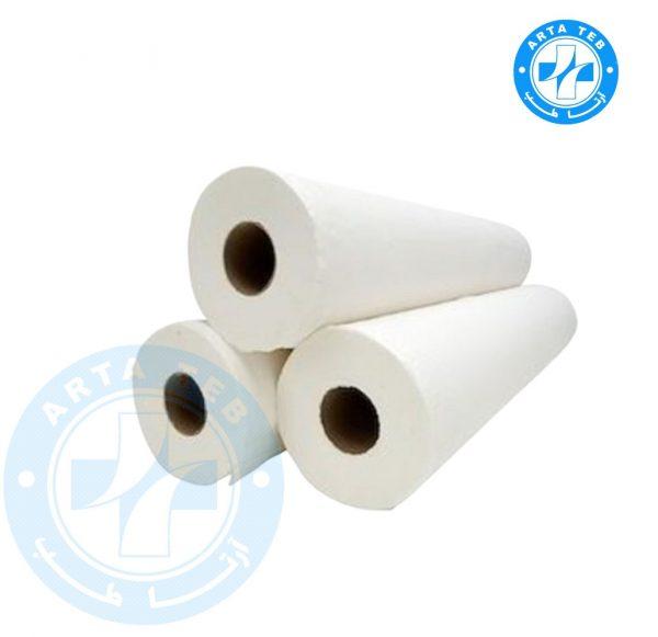 رول ملحفه یکبار مصرف عرض 60 گرماژ 25 سفید 20 متر (1)