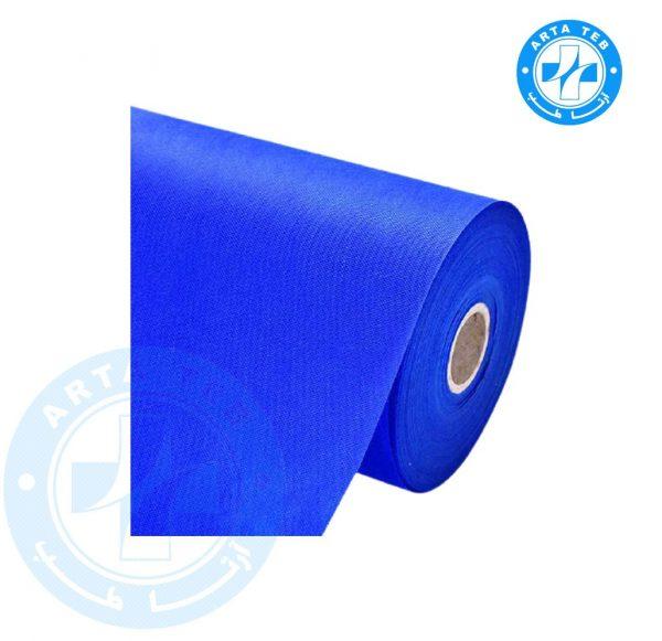 رول ملحفه یکبار مصرف عرض 80 گرماژ 17 آبی 18 متر (1)